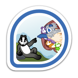 creation-of-badger-badge-artist-vi icon