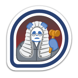 fedora-legal-badge-of-doom icon