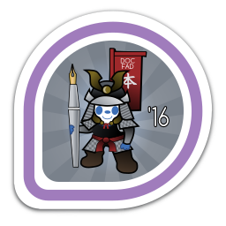Fedora Docs FAD 2016 Badge