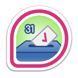 i-voted:-fedora-31 icon