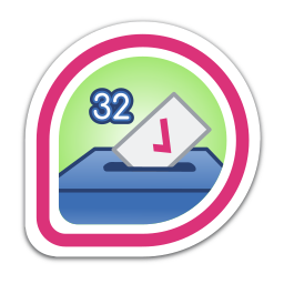 i-voted:-fedora-32 icon
