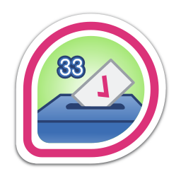 i-voted:-fedora-33 icon