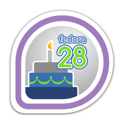 Fedora 28 Release Partygoer
