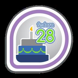 fedora-28-release-partygoer icon