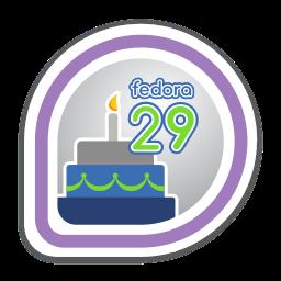 Fedora 29 Release Partygoer
